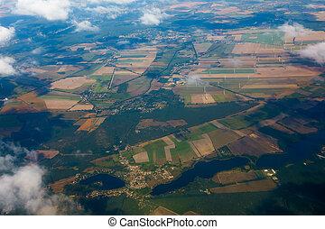 Aerial view of German agricultural