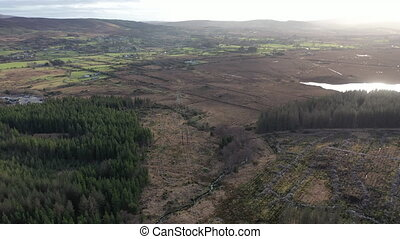 Aerial view of Glenties in County Donegal - Ireland.