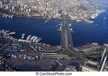 Galata Bridge. Istanbul, Turkey