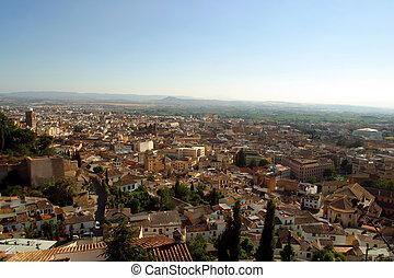 Aerial view of Granada Spain.
