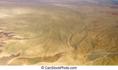 aerial view of grand canyon from helicopter