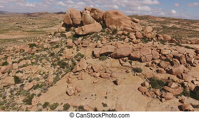 Aerial view of granite outcrop