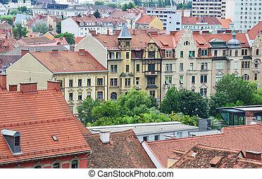 Aerial view of Graz, Austria