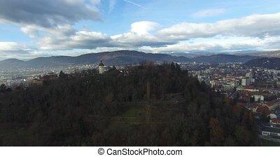 Aerial view of Graz