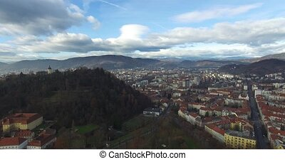 Aerial view of Graz