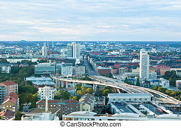 aerial view of great Stockholm area