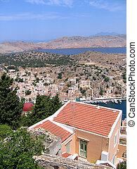 Aerial view of Greek city