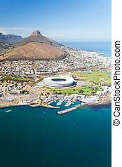 aerial view of green point stadium