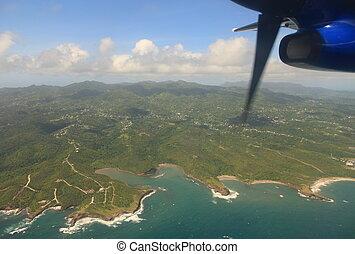 Aerial view of Grenada in the Caribbean Sea