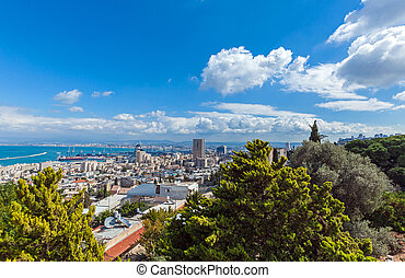 Aerial View of Haifa city