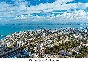 Aerial View of Haifa city