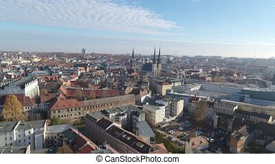 Aerial view of Halle Saale Old Town
