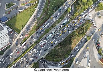 Aerial View of Highway