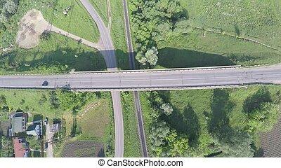 aerial view of highway in Ukraine
