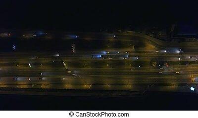 Aerial view of highway junction.