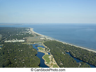Aerial view of Hilton Head