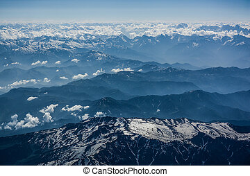 Aerial view of Himalaya range