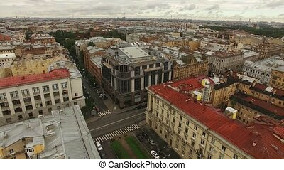 Aerial view of historical centre of Saint-Petersburg