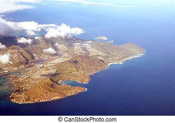 Aerial View of Honolulu Hawaii