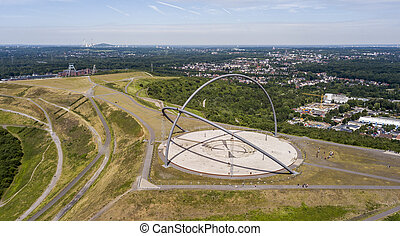 Aerial view of Horizon Observatory in Herten, North Rhine-Westphalia