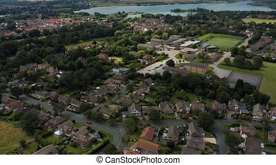 Aerial view of Hornsea, Hornsea Mere and Hornsea Secondary ...