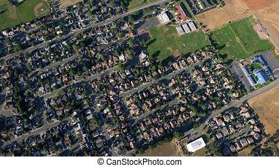 Aerial View of Hot Air Balloon - Aerial Hot Air Balloon Ride
