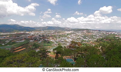 Aerial view of houses. Da lat in Vietnam