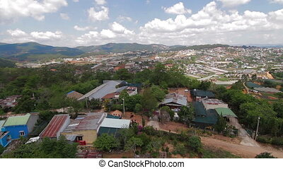 Aerial view of houses Da lat Vietnam