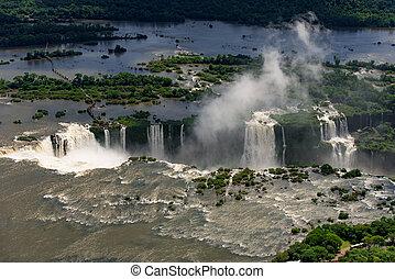 Aerial View of Iguazu Falls