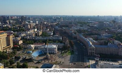 Aerial view of Independence Square In Kiev Kyiv, Ukraine