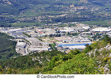 industrial area - Aerial view of industrial area