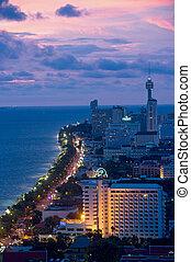 Aerial view of Jomtien beach near Pattaya in Thailand