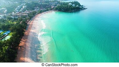 Aerial view of Kata Beach in Phuket