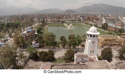 Aerial view of Kathmandu in Nepal - Aerial view of Rani...