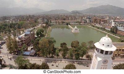 Aerial view of Kathmandu in Nepal