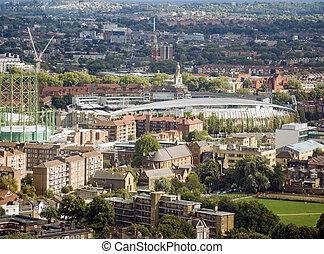 Aerial view of Kennington, London