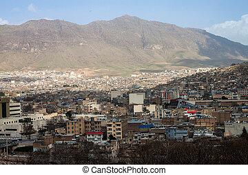 Aerial view of Khorramabad, Iran