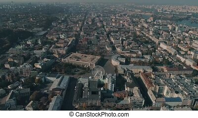 aerial view of Kiev city
