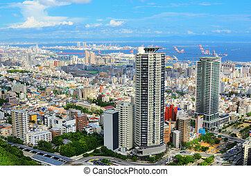 Aerial view of Kobe, Japan
