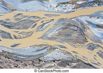 aerial view of kunlun river
