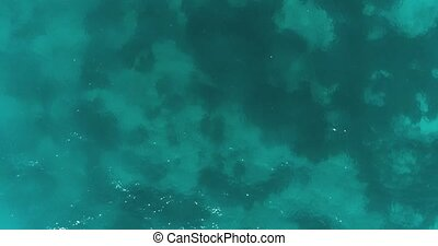 Aerial view of lagoon ocean surface - Aerial drone top view...