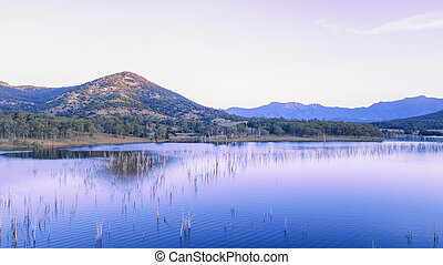 Aerial view of Lake Moogerah in Queensland