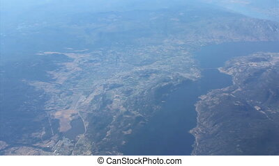 Aerial View Of Lake Okanagan - An aerial view flying over...