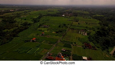 Aerial view of landscape in Bali, Indonesia - Aerial view of...