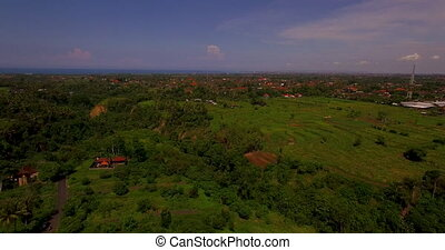 Aerial view of landscape in Bali, Indonesia
