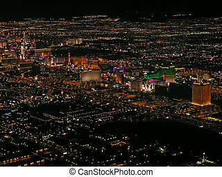 Las Vegas Strip - Aerial view of Las Vegas Strip