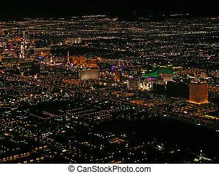 Las Vegas Strip - Aerial view of Las Vegas Strip