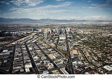 Aerial view of Las Vegas