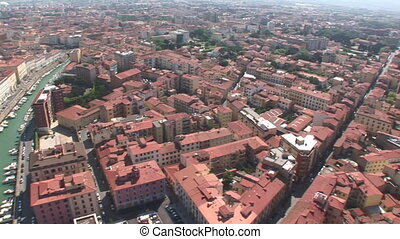 Aerial view of Livorno, Italy