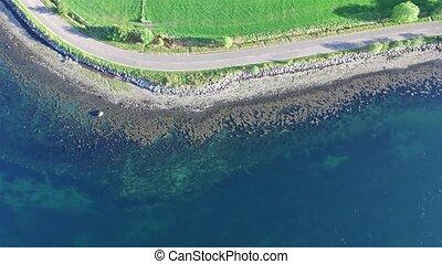 Aerial view of Loch Creran by the Loch Creran bridge